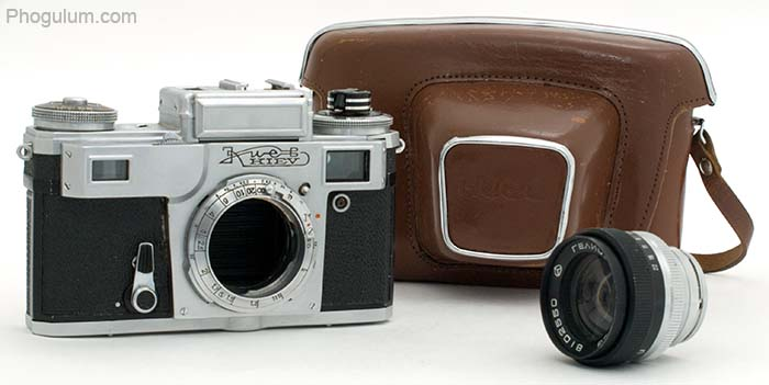 Kiev 4M with removed lens and case