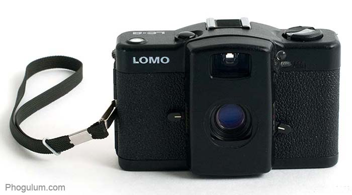 LOMO LC-A with strap and open lens cover