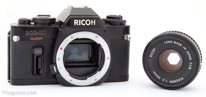 Ricoh KR-10 Super body and lens separately