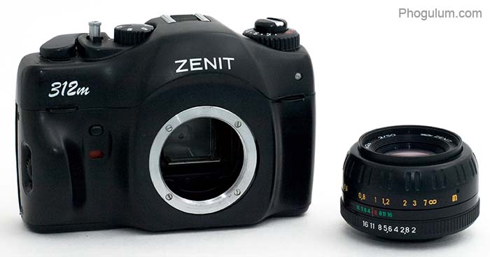 Zenit 312m lens removed