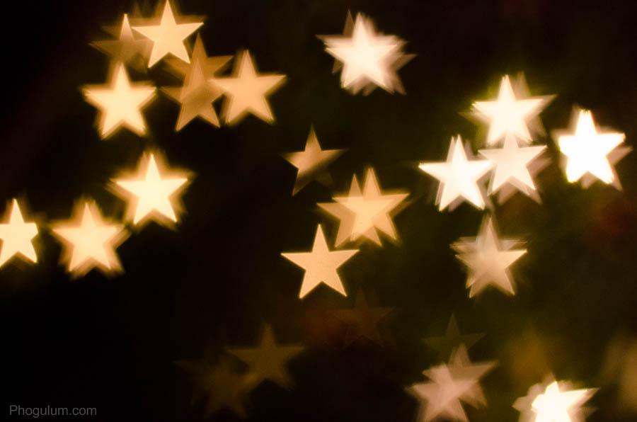 merry christmas christmas lights through the star